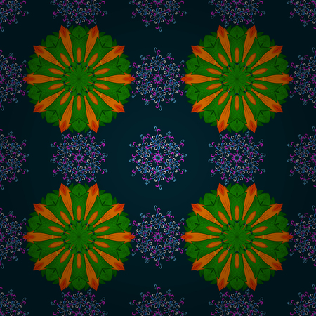 nobby: Vintage vector floral seamless pattern in colors. Illustration