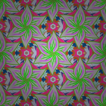 saturated color: Textile print for bed linen, jacket, package design, fabric and fashion concepts. Abstract vector seamless pattern flower design in colors. Floral seamless pattern with watercolor effect.