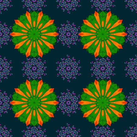 nobby: Trendy seamless floral pattern vector illustration with many flowers. Illustration