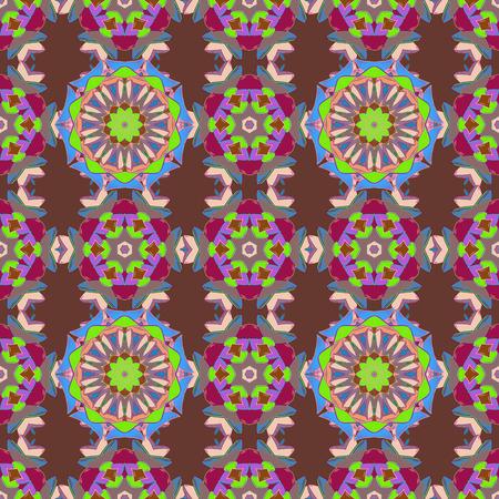 modish: Vector seamless pattern tile with mandalas.
