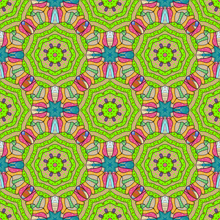 pleased: Template Colored mandala vector circle of zentangle hand drawn on background.