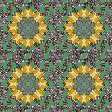 qigong: Vector colored design abstract mandala sacred geometric illustration on a backdrop.