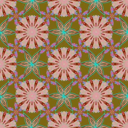 벡터 결혼식 꽃 장식 요소입니다. 원활한 패턴 배경에 buta 장식 항목의 메디 꽃 레이스.