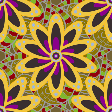 admirable: Vector East, Islam, Indian, motif, revival swirling. Colored mandala pattern, Arabic background. Vintage decorative ornament on colorful background. Ethnic texture. Orient, symmetry lace, sketch.