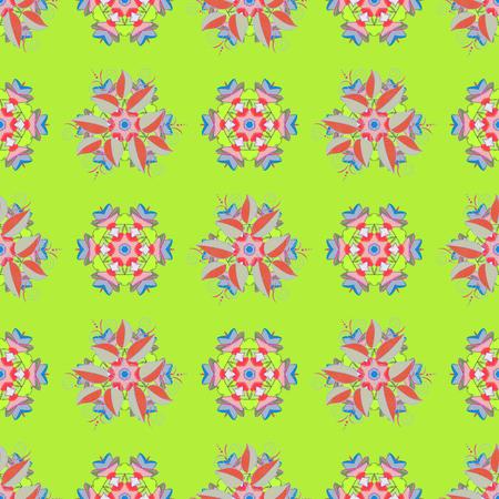 Christmas Card Mandala Design. Decorative Indian Round Mandala on colorful background. Vintage pattern. Colored over. Islam, Arabic, Indian, Turkish, Pakistan. Invitation Card, Scrapbooking.