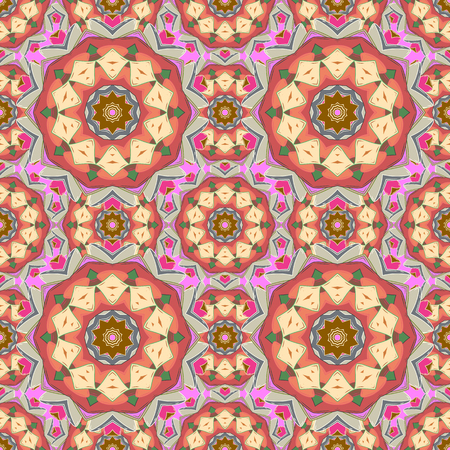 Background. Mandala vector floral flower oriental coloring book page outline template carpet. Seamless pattern with flowers.