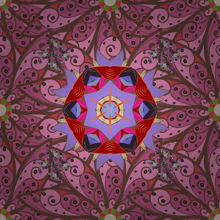 Tribal, Boho, Bohemian style, for flash tattoo. Vector colored Mandala. Ornament invitation card Vintage decorative elements on a colorful background. Illustration