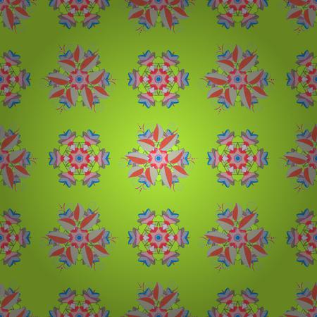 Modello circolare mandala astratto di vettore. Ornamento rotondo con rami intrecciati, fiori e riccioli. Arabesco. Mandala colorata su un baqckground.