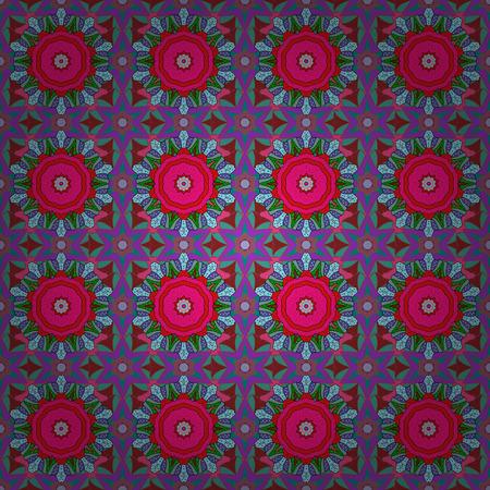 Anti-stress mandala. Decorative colored round ornament. Oriental flourish vector. Yoga, background for meditation poster. Indian flower mandala. Colorful mandala.