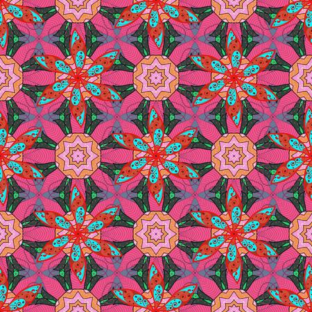 fascinação: Padrão floral vintage floral sem costura em cores.