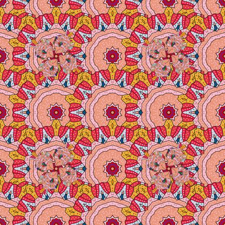 imagery: Kaleidoscope, medallion, yoga, india, arabic. Geometric circle vector element. Ornament colored card with mandala. Tribal, Boho, Bohemian style. Illustration