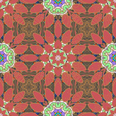 fascinação: Textura vetorial infinita para design romântico, decoração, cartões, cartazes, envoltórios, para impressão têxtil e tecido. Padrão floral sem costura com flores de verão brilhantes em cores.