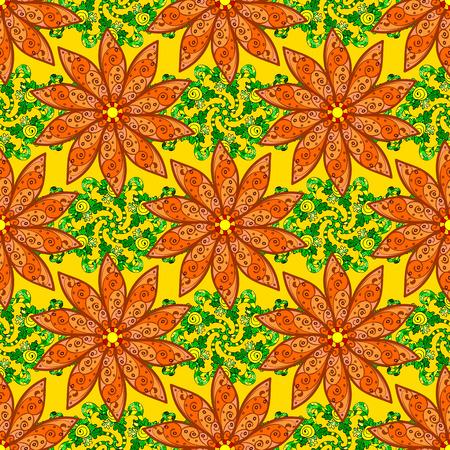 fascinação: Ilustração da flor do vetor. Padrão sem emenda com motivos florais. Padrão floral sem costura com flores, aguarela.