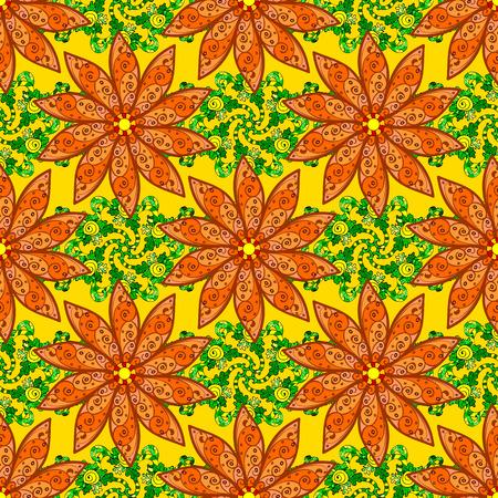 saturated color: Vector flower illustration. Seamless pattern with floral motif. Seamless floral pattern with flowers, watercolor.
