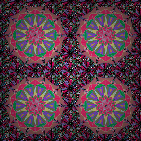 unusual: Colored mandalas element. Vector illustration. Background.