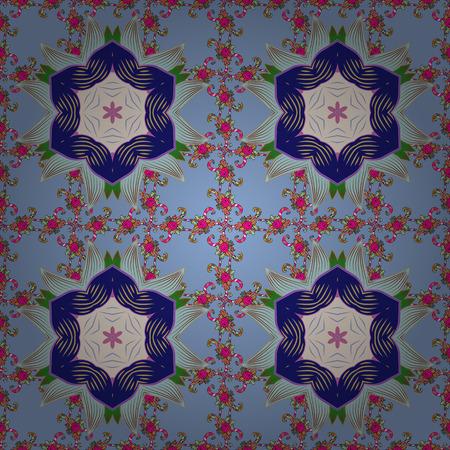 Mandala colored on a background. Invitation card. Vector vintage pattern. Illustration