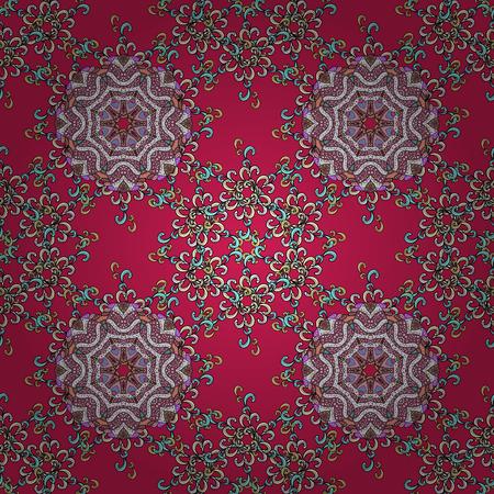 superlative: Vintage baroque mandala ornament on background. Retro pattern antique style acanthus. Decorative design element filigree calligraphy. Vector illustration.