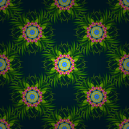 madagascar: Motley vector illustration. Seamless exotic pattern with many tropical leaves. Blooming jungle.
