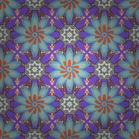 fascinação: Conceito de flor de vetor. Padrão natural da folha em cores. Padrão floral sem costura pode ser usado para esboço, fundo do site, papel de embrulho. Design de verão. Ilustração
