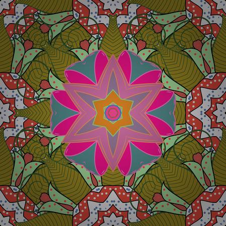 fascinação: Impressão têxtil para concepção de roupa de cama, jaqueta, design de pacotes, tecidos e moda. Desenho de flores abstratas em cores abstratas em cores. Padrão floral sem costura com efeito aquarela. Ilustração