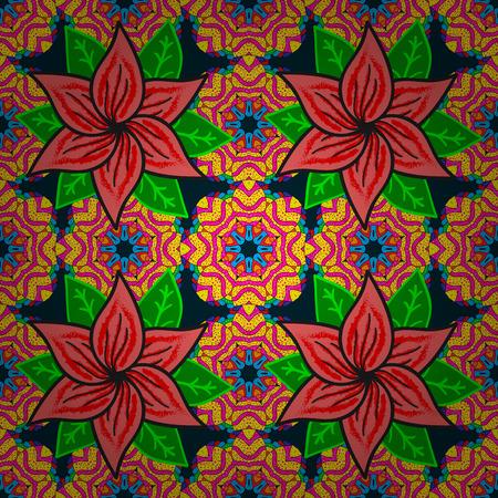 fascinação: Fundo floral sem costura floral. Impressão têxtil de vetores para concepção de roupa de cama, jaqueta, design de pacotes, tecidos e moda. Padrão sem costura com flores.