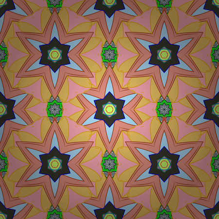 fascinação: Ornamento multicolorido de pequenas flores simples, padrão abstrato abstrato de vetores para design de tecido ou têxteis.