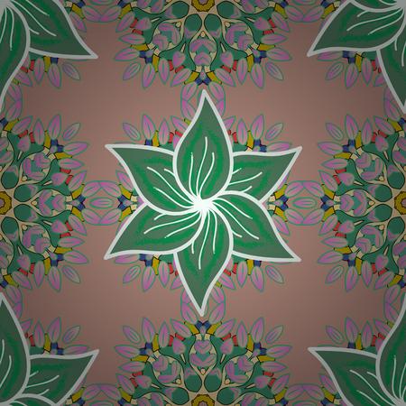 fascinação: Textura de fundo, esboço, tema floral em cores. Padrão sem costura de vetor etnico abstrato. Impressão artística de arte tribal, fundo de flor vintage.