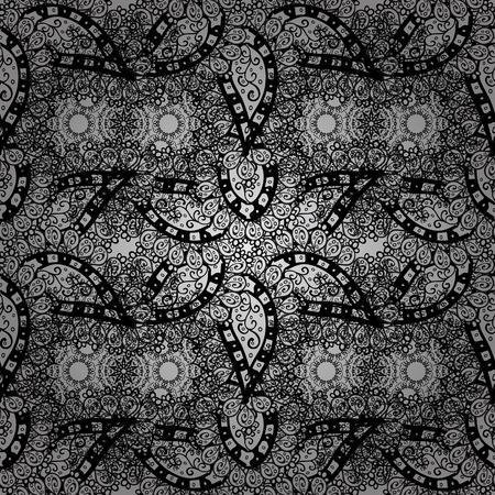 unusual: Seamless oriental classic dim pattern. Vector abstract background with dim repeating elements on a gray background. Illustration