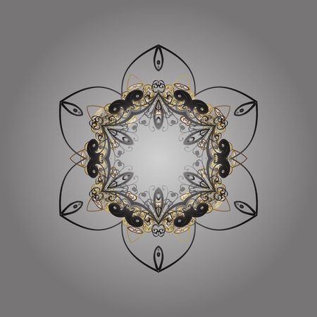 festivity: Vector for holiday Thanksgiving day, a simple hand-drawn winter design on gray background in colors. Golden elements.