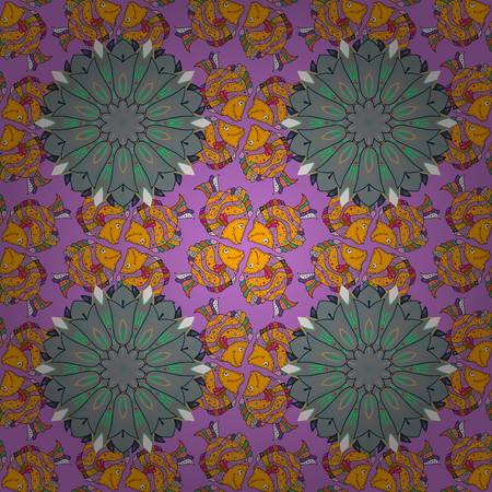 petal: Vector illustration of flowers. Seamless pattern with flowers on motley background. Illustration