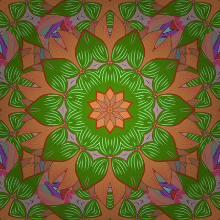 petal: Vintage vector floral seamless pattern in colorfil colors. Illustration