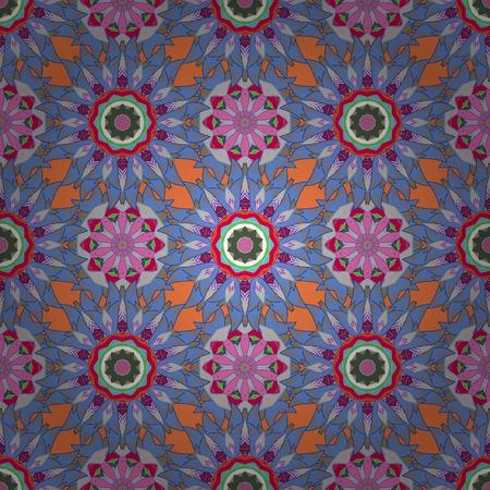 Decorative vector ornate colored mandala icon for card, colored Mandala on a colorfil background. For invitation card, scrapbook, banner, postcard, tattoo, yoga, boho, magic, carpet, tile, lace. Vektoros illusztráció