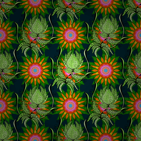 Summer design. Leaf natural pattern in colors. Vector flower concept. Seamless floral pattern can be used for sketch, website background, wrapping paper. Illustration