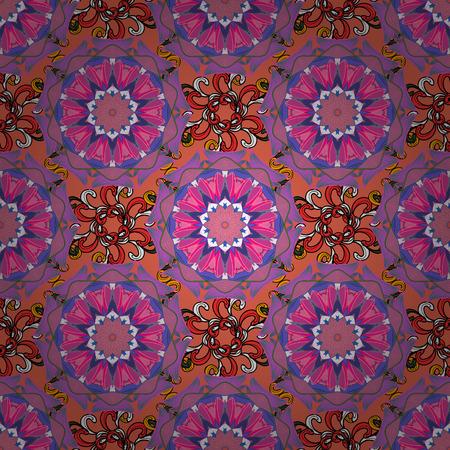 convolute: Vector colored Mandala. Ornament invitation card Vintage decorative elements on a background. Tribal, Boho, Bohemian style, for flash tattoo.
