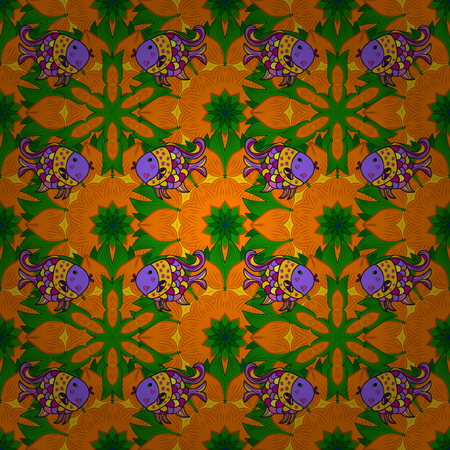 superb: Vector illustration of flowers. Seamless pattern with flowers on motley background. Illustration