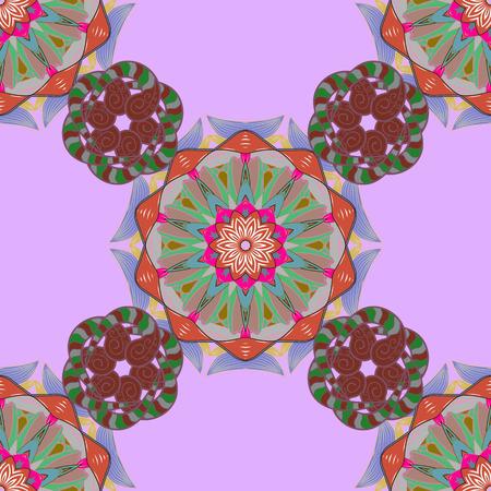 fillings: Vector Mandala pattern on red background. Arabic Vintage decorative ornament. Mandala colored background. East, Islam.