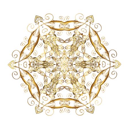 spellbinding: Snowflakes winter New Year frame on white background.