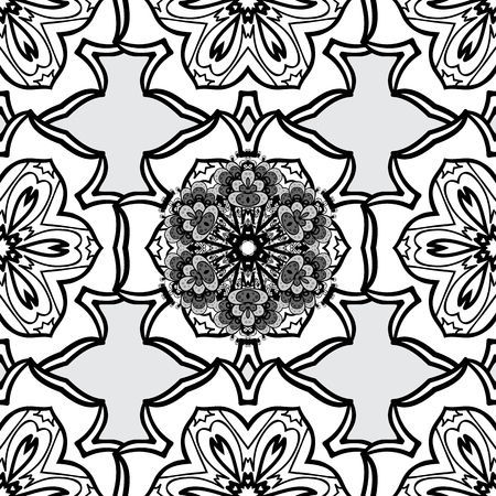 mosaic: Vector illustration. Oriental vector classic gray and dim pattern. Seamless abstract background. Illustration