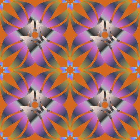 Colored Mandalas on blue background. Vintage vector decorative elements. Oriental pattern. Islam, Arabic, Indian, turkish, pakistan, chinese, ottoman motifs.