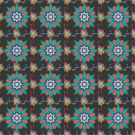 nobby: Endless vector texture for romantic design, decoration, greeting cards, posters, wrapping, for textile print and fabric. Floral seamless pattern with bright summer flowers in colors.