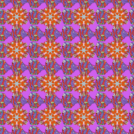 delectable: Trendy seamless floral pattern. Vector illustration with many flowers.