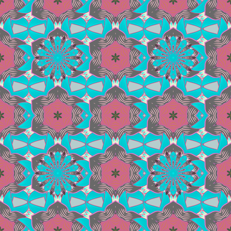 madagascar: Vector illustration with many flowers. Trendy seamless floral pattern.