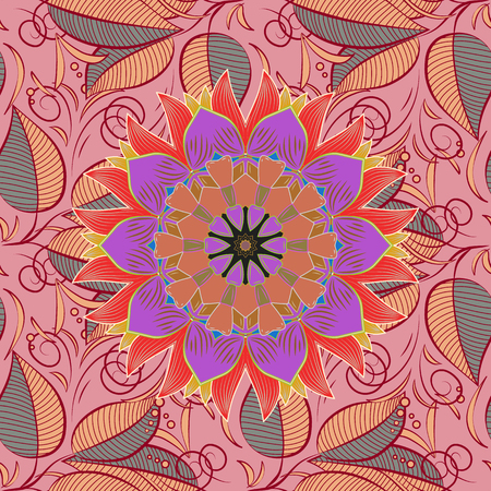 delectable: Abstract vector seamless pattern flower design in colors. Floral seamless pattern with watercolor effect. Textile print for bed linen, jacket, package design, fabric and fashion concepts.