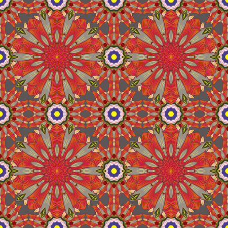 thai motifs: Mandala pattern. East, Islam, Thai, Indian, ottoman motifs. Vector Mandala colored on background. Orient, symmetry lace, meditation symbol. Tribal, ethnic texture. Arabic Vintage decorative ornament.