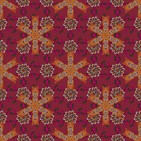 Vector illustration of flowers. Seamless pattern with flowers on motley background. Illustration