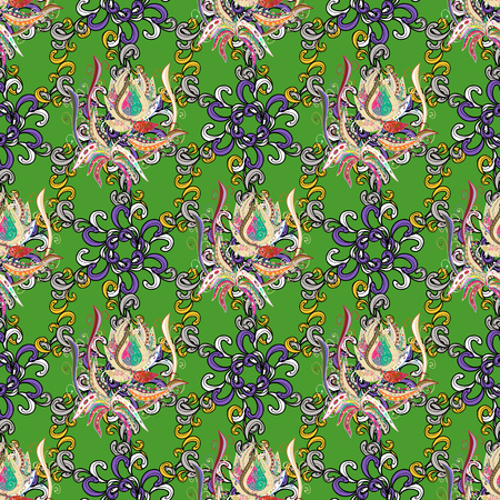 admirable: Leaf natural pattern in colors. Vector flower concept. Summer design. Seamless floral pattern can be used for sketch, website background, wrapping paper.