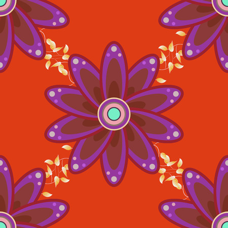 flamboyant: Vector seamless colorful floral pattern. Hand drawn floral texture, decorative flowers. Illustration