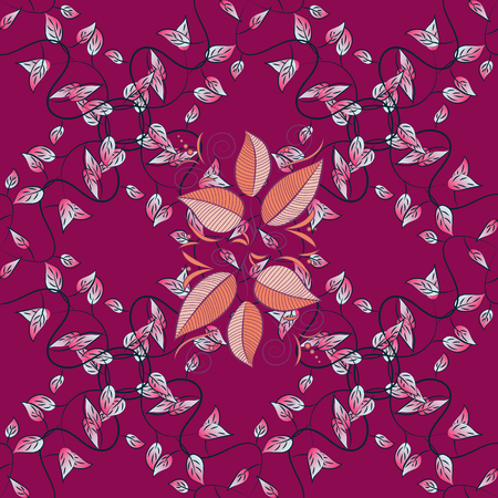 admirable: Abstract vector seamless pattern flower design in pink colors. Floral seamless pattern with watercolor effect. Textile print for bed linen, jacket, package design, fabric and fashion concepts.