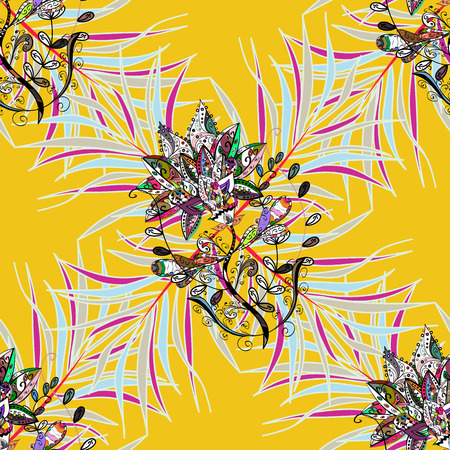 glitzy: Watercolor hand painting of abstract flowers, seamless pattern vector background.