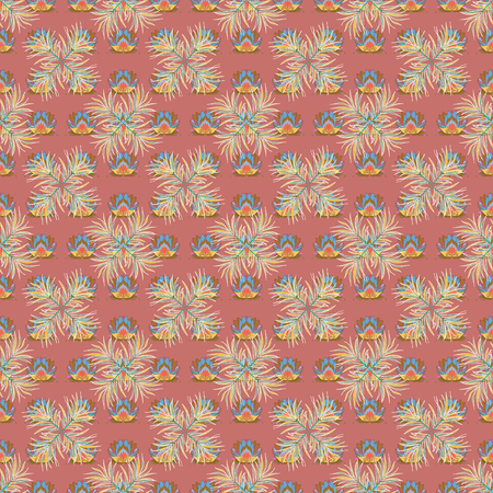 admirable: Hand drawn floral texture, decorative flowers. Vector seamless colorful floral pattern.